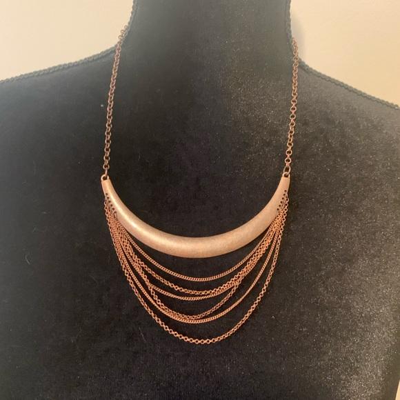 Women's paparazzi way wayfarer- copper collar